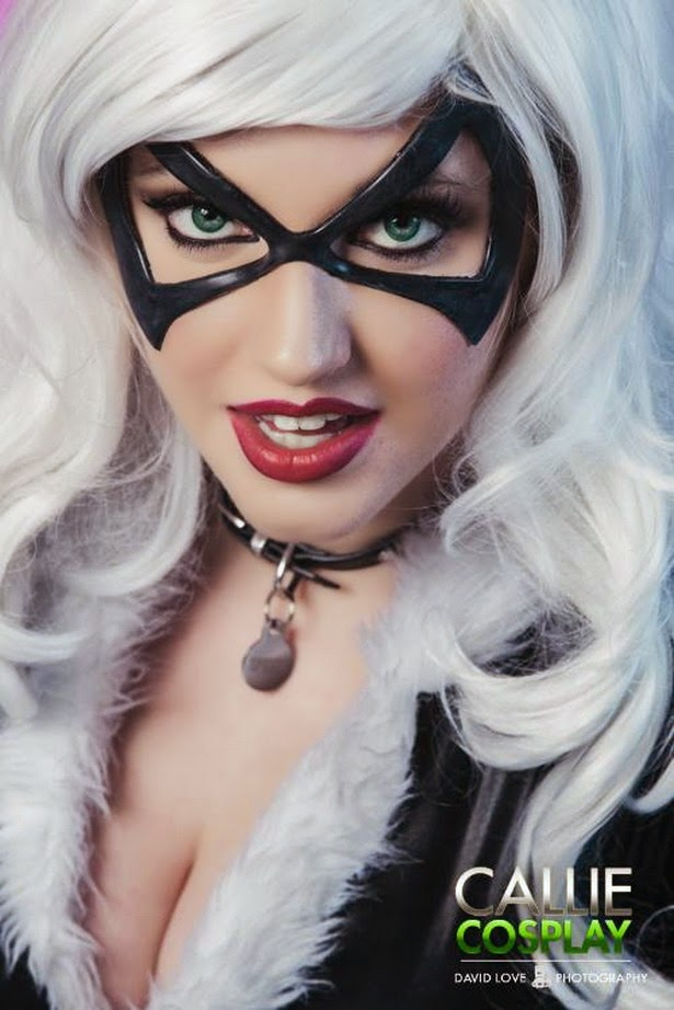Callie Cosplay como Black Cat (Marvel Comics)