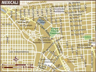 Mapa de Mexicali Político Región