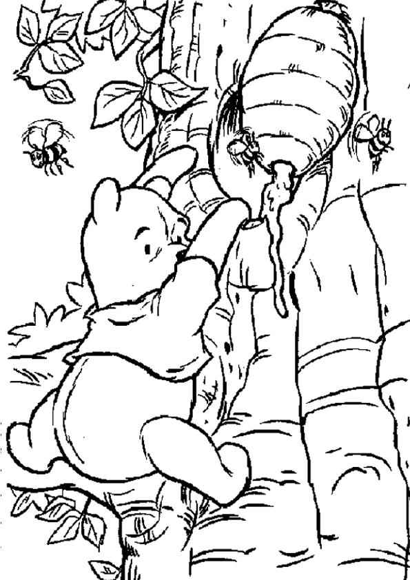 imagen de winnie the pooh para colorear