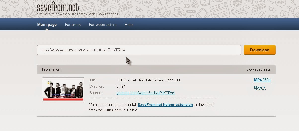 Cara Mudah Download Youtube dengan ssyoutube.com