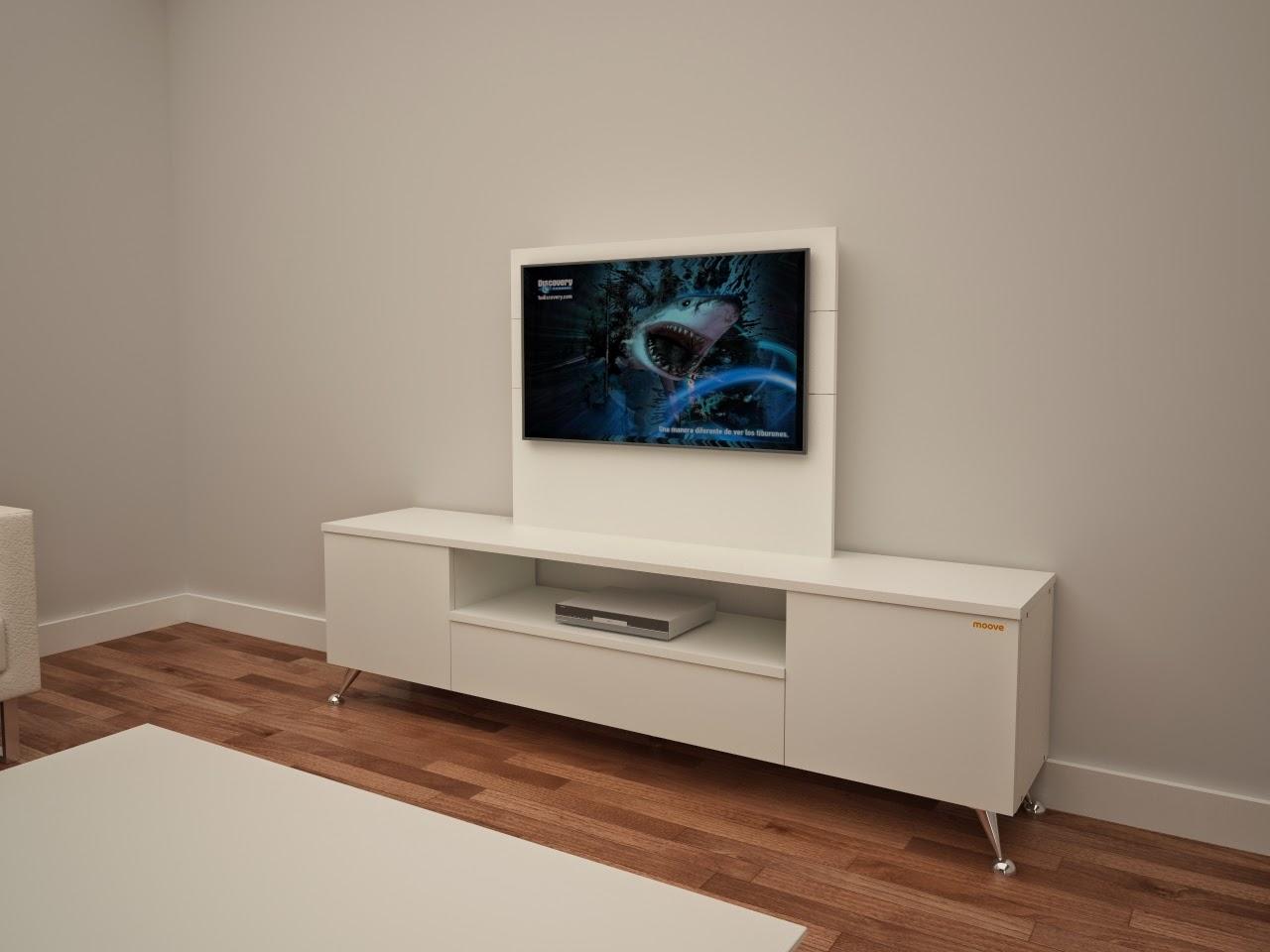 Muebles de dise o composici n 1 mueble para tv con fondo - Mueble ocultar tv ...