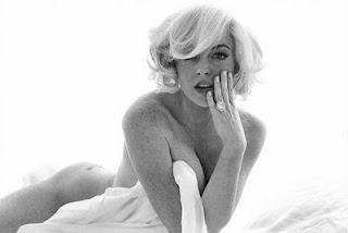 Lindsay Lohan pose Marlyn Monroe