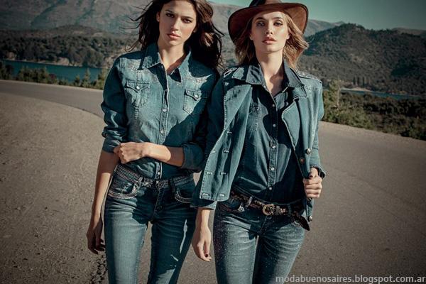 Denim + Denim. Moda jeans invienro 2014 marca Sweet Argentina.