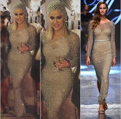 khloe kardashian vestido yousef al jasmi