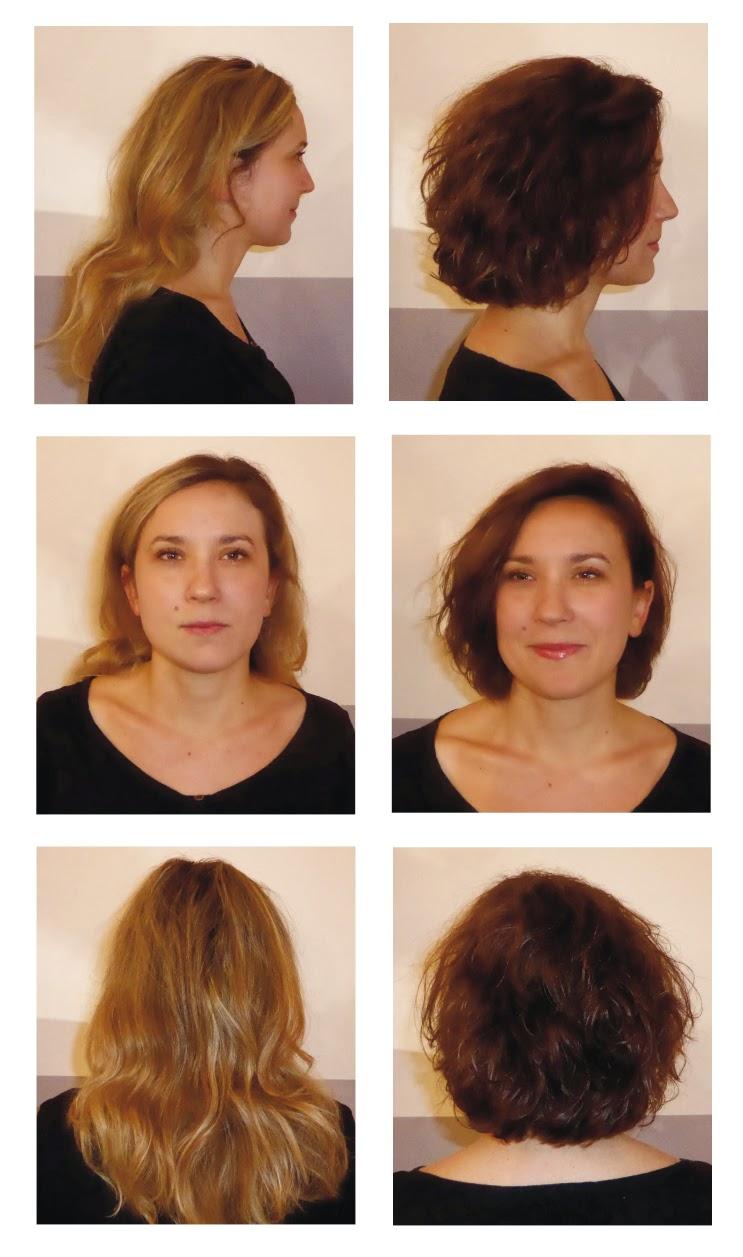 Claire avant et après sa visite au Studio 54,  coupe et couleur réalisées par Eddy, coiffeur visagiste et coloriste à Montpellier.