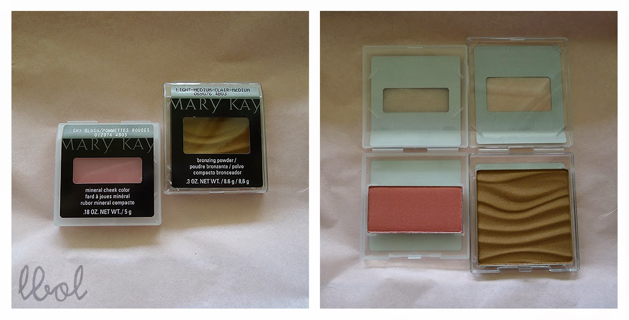 Mary Kay Mineral Cheek Color in Shy Blush and Bronzing Powder