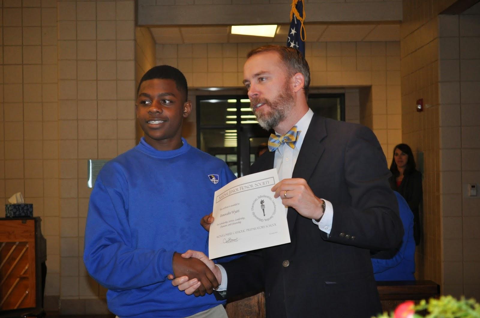 Montgomery Catholic Taps 27 New Members into National Junior Honor Society 3