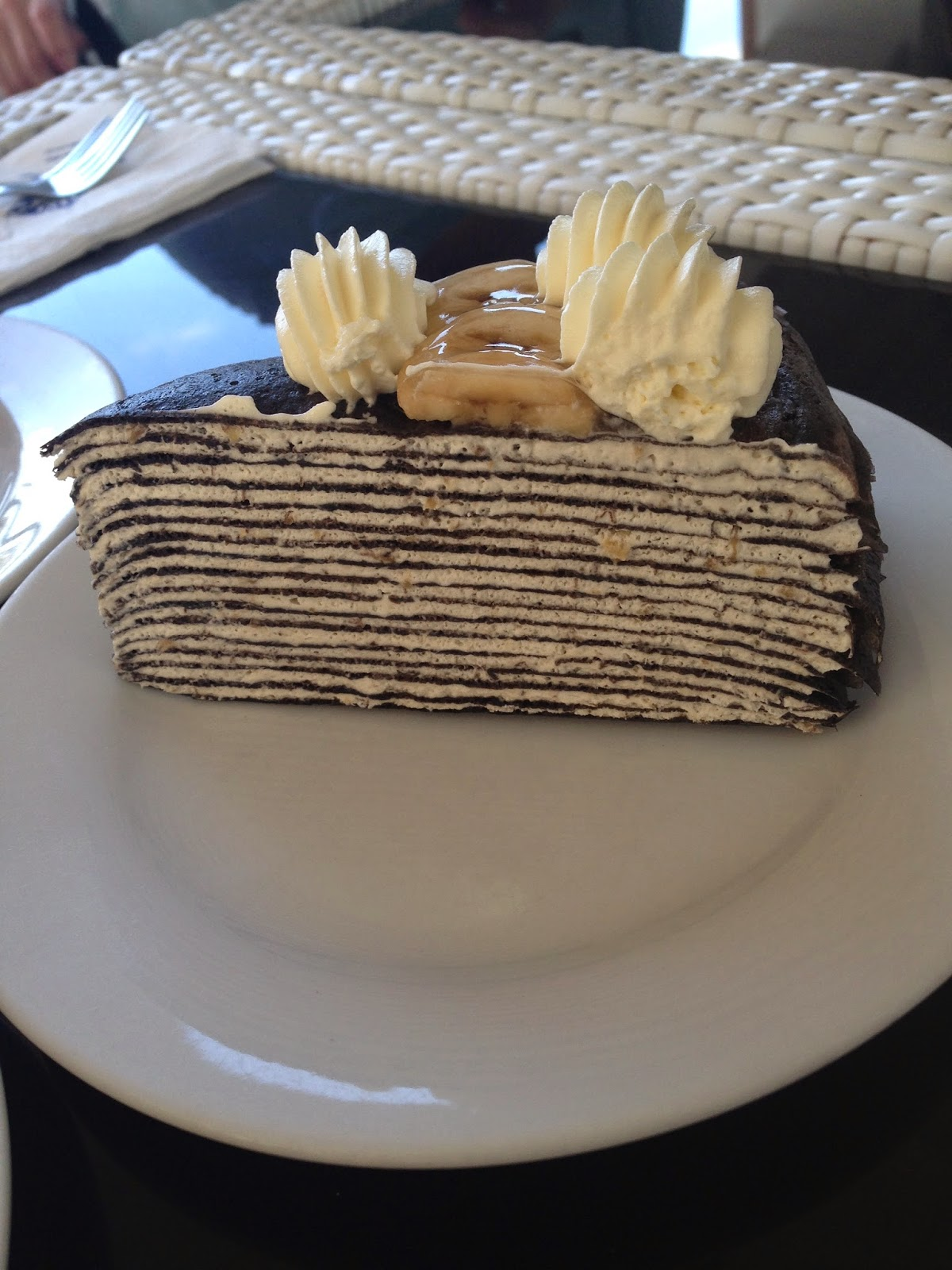 Mille Crepe, Banana Chocolate, Nadeje at Plaza Mahkota, @www.lifefoodcoffee.com