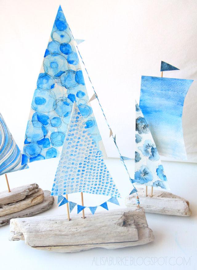 letnie łódki diy letnia dekoracja eco manufaktura