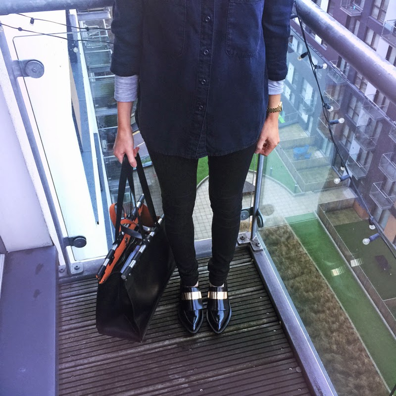 Zara Handbag and Brogues - Rock On Holly