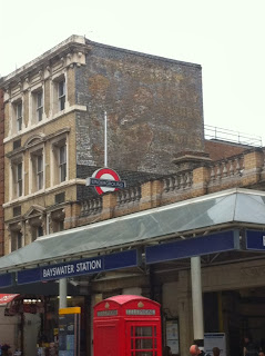 Ghost sign for Safety Razors and Blades, Bayswater, London