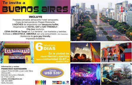Ahora ya tenemos paquetes turísticos a la capital Gay de Sud América.