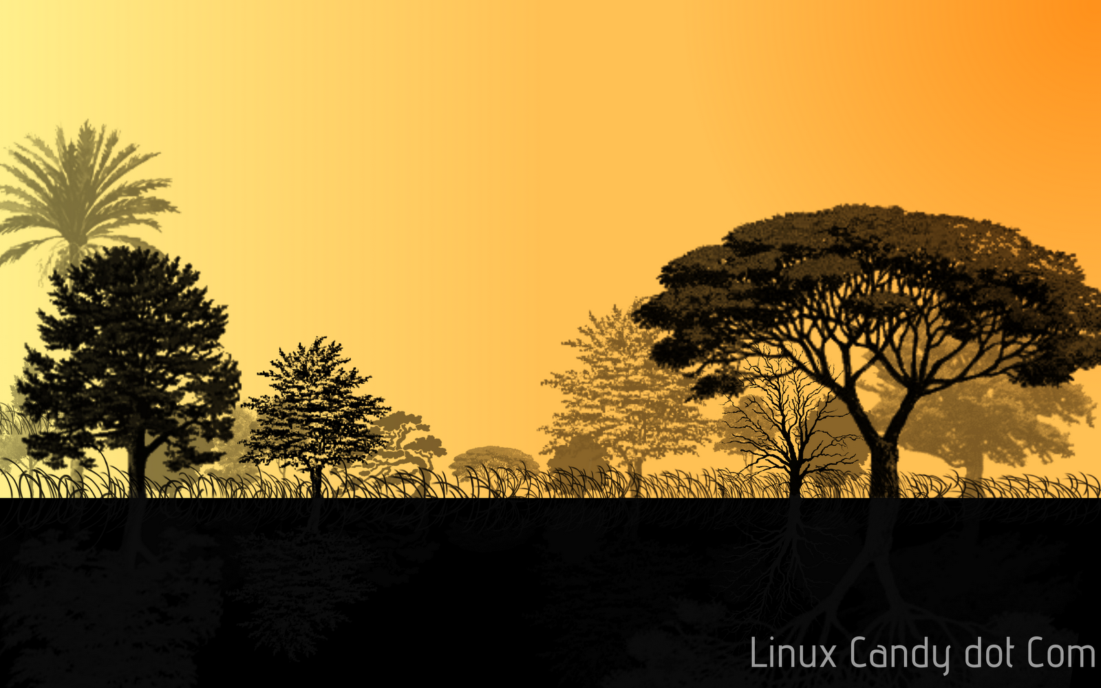 how to make nifty tree wallpaper with gimp linux candy