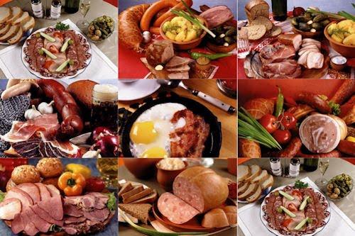 Fotos de comida y embutidos para preparar