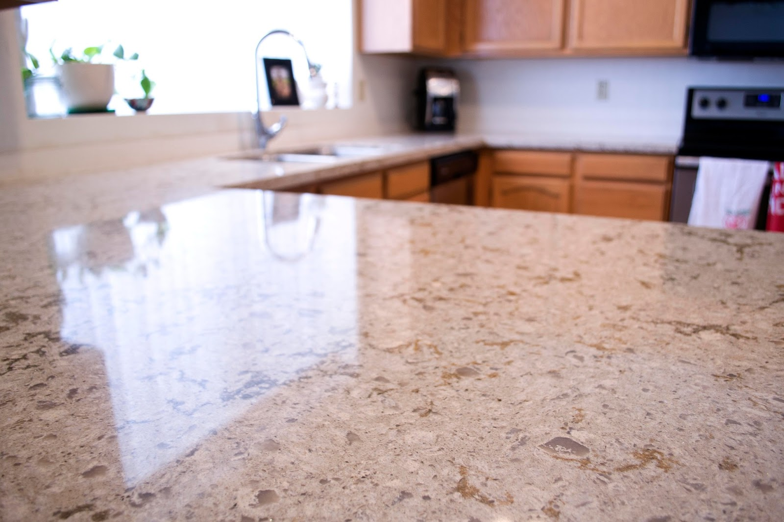 Heidi schatze kitchen upgrade cambria quartz for Who makes quartz countertops