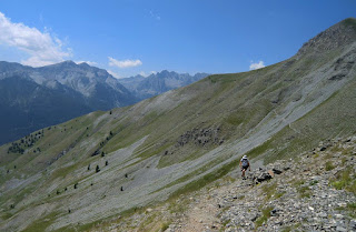 Climbing from Col de la Colombière towards Tête deVinaigre