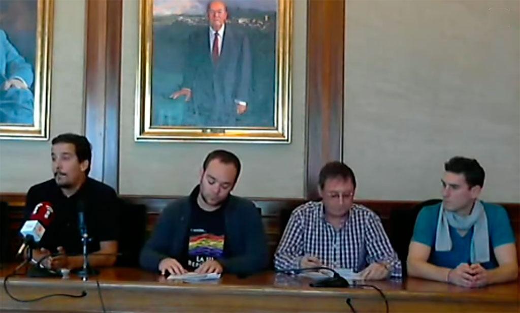 rueda de prensa dimision de Miguel Flores IU