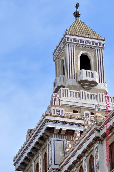 Cúpula del Edificio Bacardí en La Habana, Cuba, el 12 de marzo de 2013. Esta construcción de 1930 es la obra maestra del Art Deco habanero.