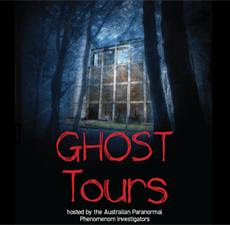 Poster for Ghost Tours at Casula Powerhouse