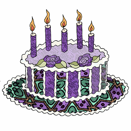 ArtbyJean - Paper Crafts: BIRTHDAY CAKES - Set A21 - Royal ...