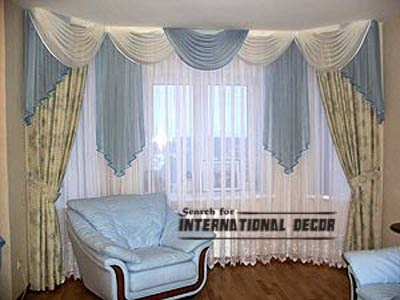 curtain designs, unique curtains,curved curtains,window decorations