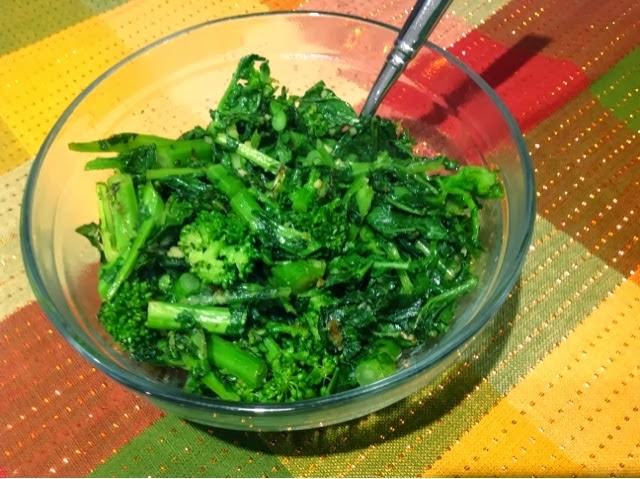 broccoli rabe in garlic