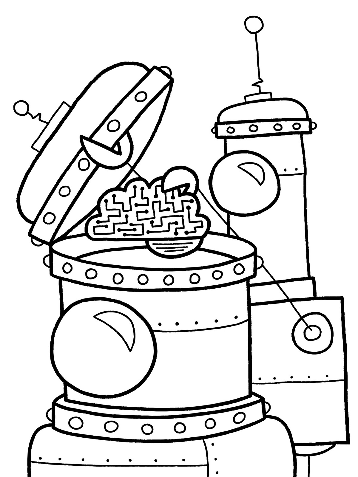 Coloring Page Robot