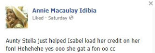 Annie idibia facebook post