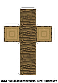 Crear bloque minecraft de madera