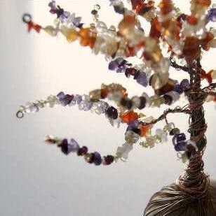 Cara Membuat Kerajinan Tangan Yang Mudah, Pohon Manik-manik 7
