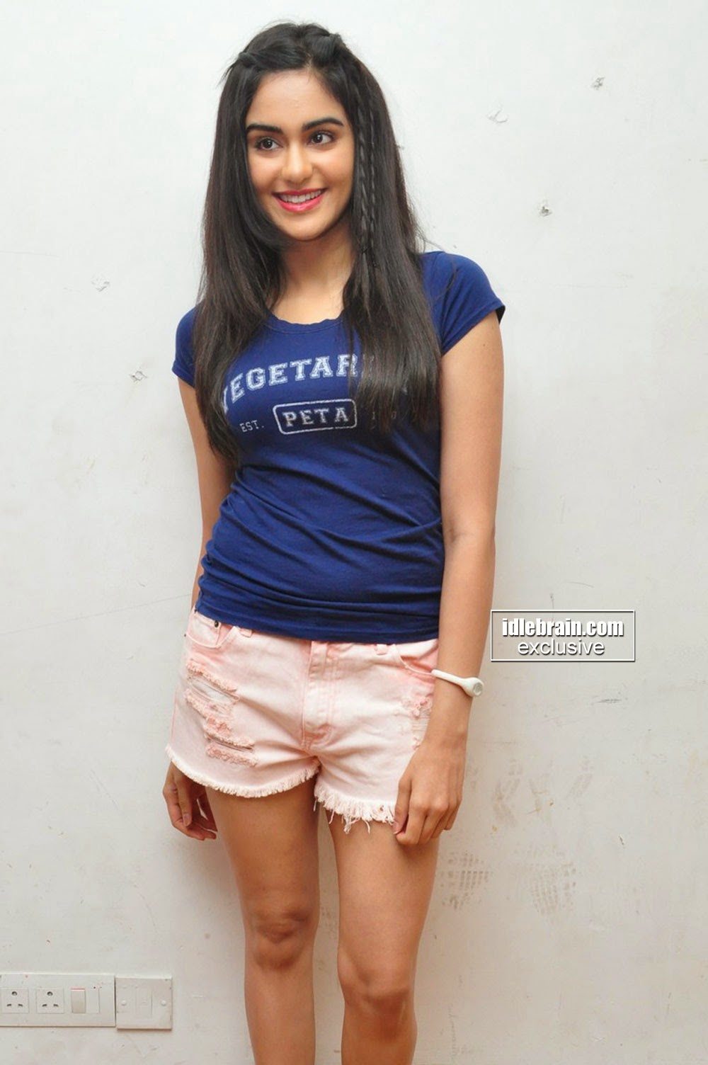 Adah Sharma shorts
