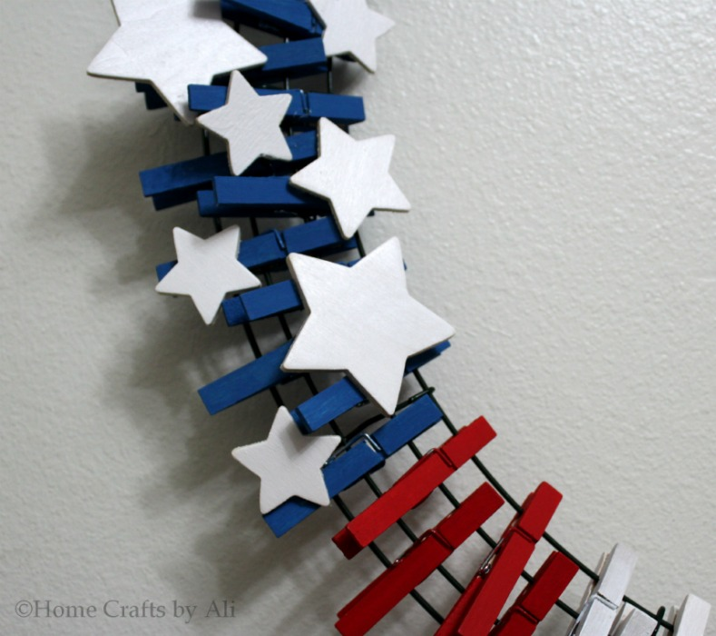4th of july wreath diy tutorial clothespin patriotic red white blue
