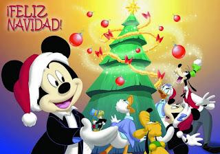 tarjetas navidad disney