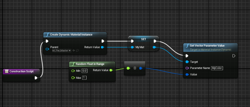 ue4 how to set materials in spawned dm