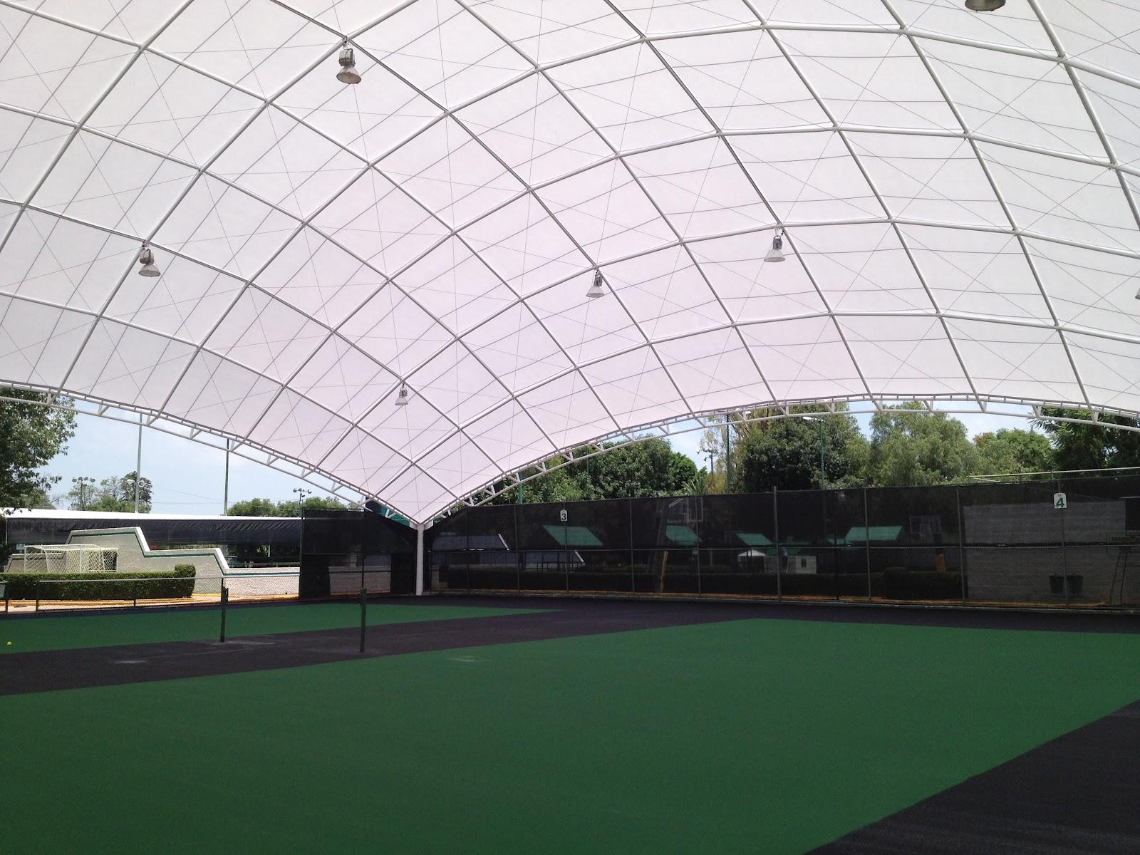 Cubiertas ligeras cubierta para dos canchas de tenis - Cubiertas metalicas ligeras ...