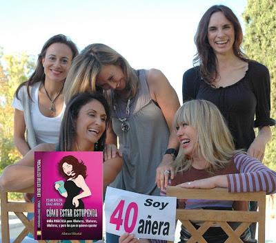 """Esmeralda Diaz-Aroca y su libro  """"Como estar estupenda a partir de los 40""""."""