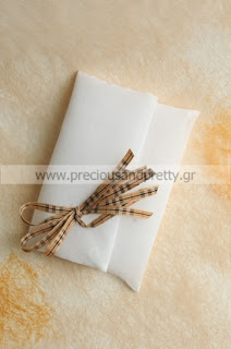 christening favors girl white linen envelopes burberry style ribbons