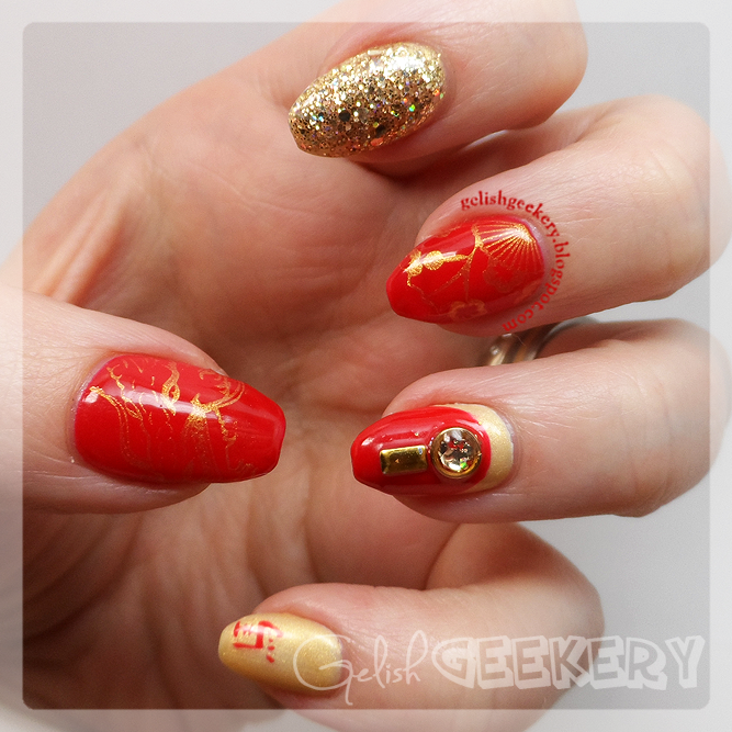 Gelish Chinese New Year Nails