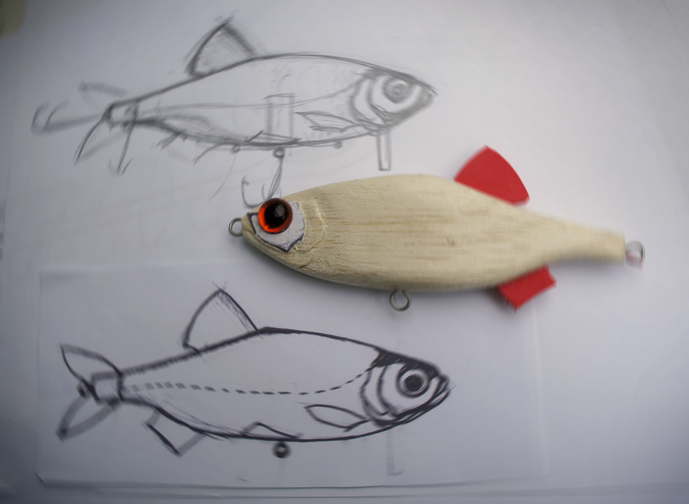 Homemade fishing lure blog carving balsa lures for Homemade fishing lures