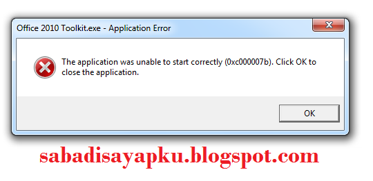 "Cara Mengatasi Aplikasi Windows Error ""The application was unable to start correctly (0xc000007b)"""