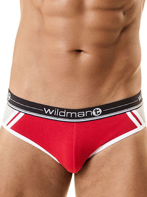 WildmanT Racer Short Brief Underwear Red Detail Gayrado