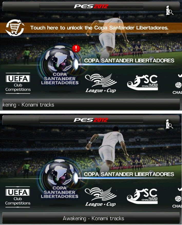 Game PES 2015 Android Liga Copa Libertadores