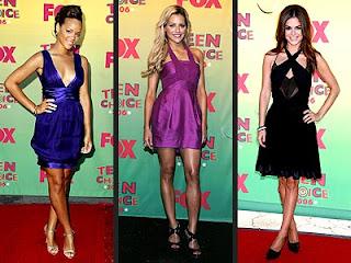 Celebridades usando vestidos para festa