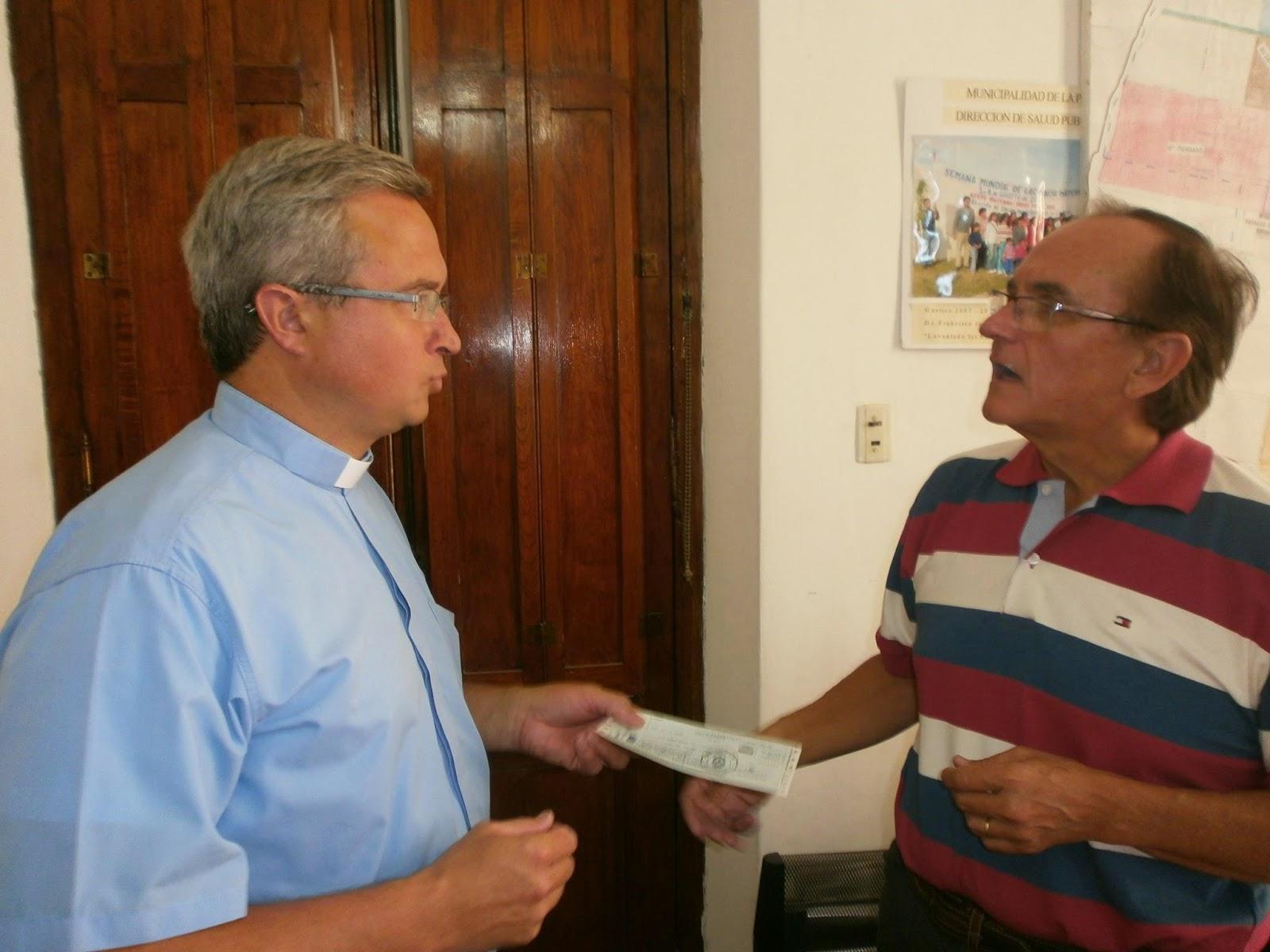 Nogueira realizó una ayuda económica, destinada a los preparativos de la Fiesta Patronal