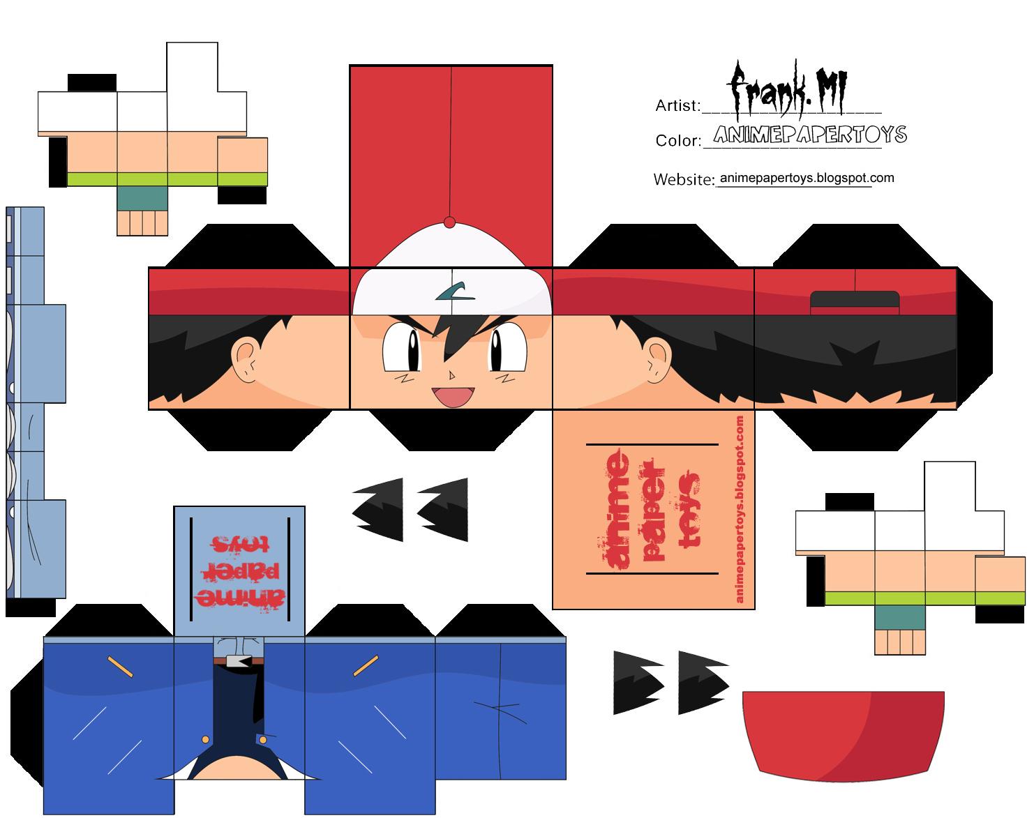 Papercraft Ash Ketchum - Pokemon