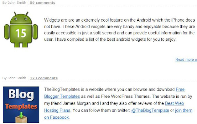 Widgets Customized Blogger Blog