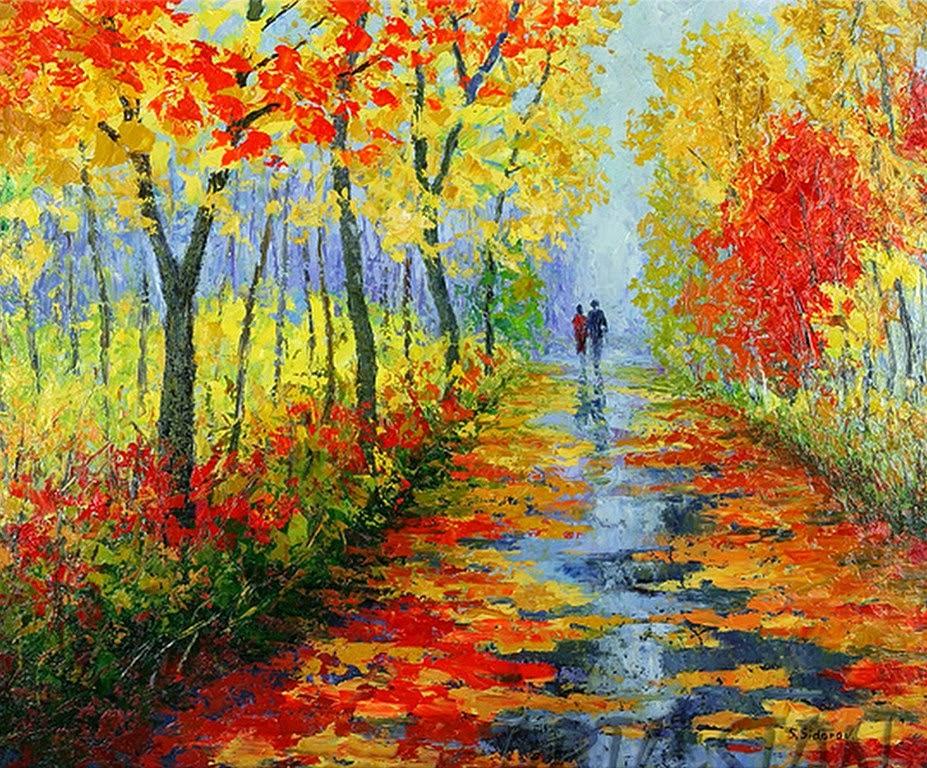 Arte pinturas leo pinturas modernas paisajes de - Pintura cuadros modernos ...