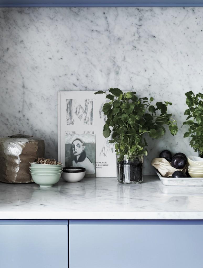Marmorplate kjøkken