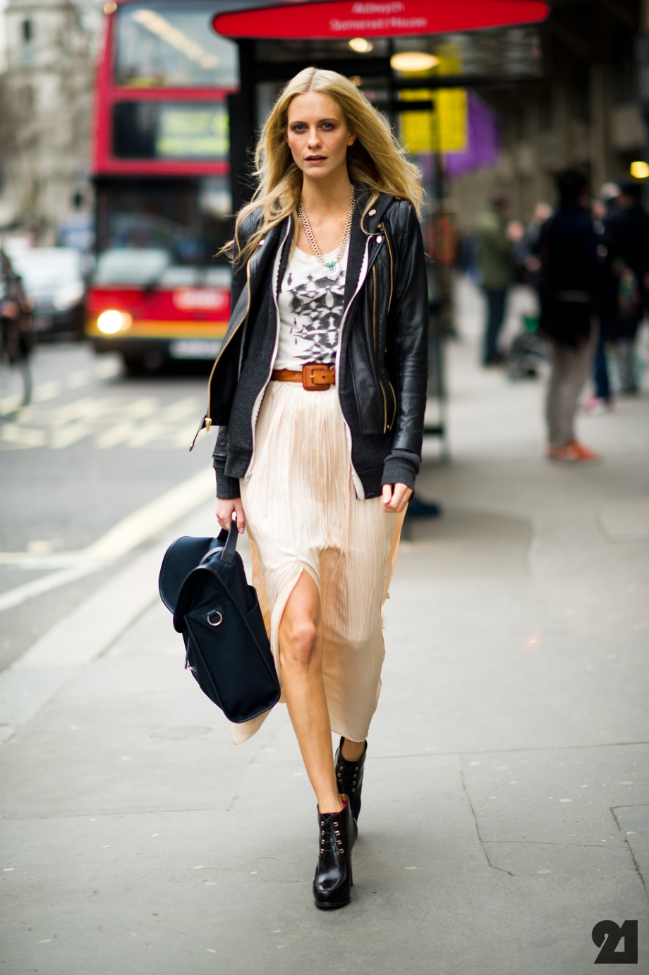 Fashion Week Street Style - Poppy Delevingne