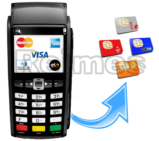 Maquina de Cartao de Credito Sem Fio Movel Micro Empreendedor Individual